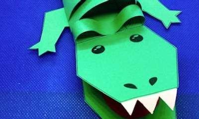 School Holiday Craft - Crafty Crocodile