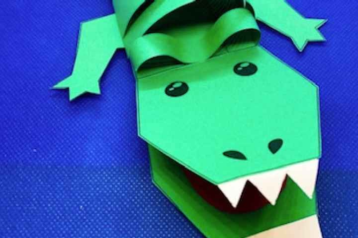 School Holiday Craft - Crafty Crocodile