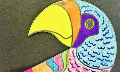School Holiday Craft - Pretty Paper Parrots