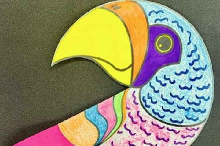 School Holiday Craft - Pretty Paper Parrots